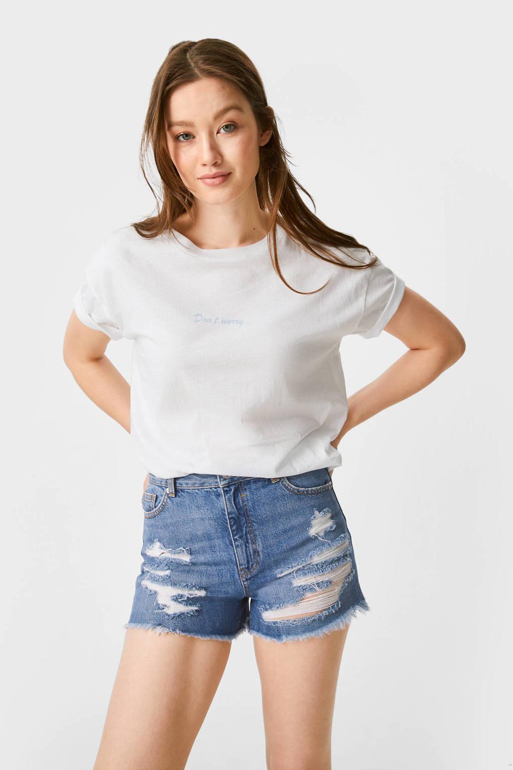 C&A Clockhouse jeans short blauw, Blauw