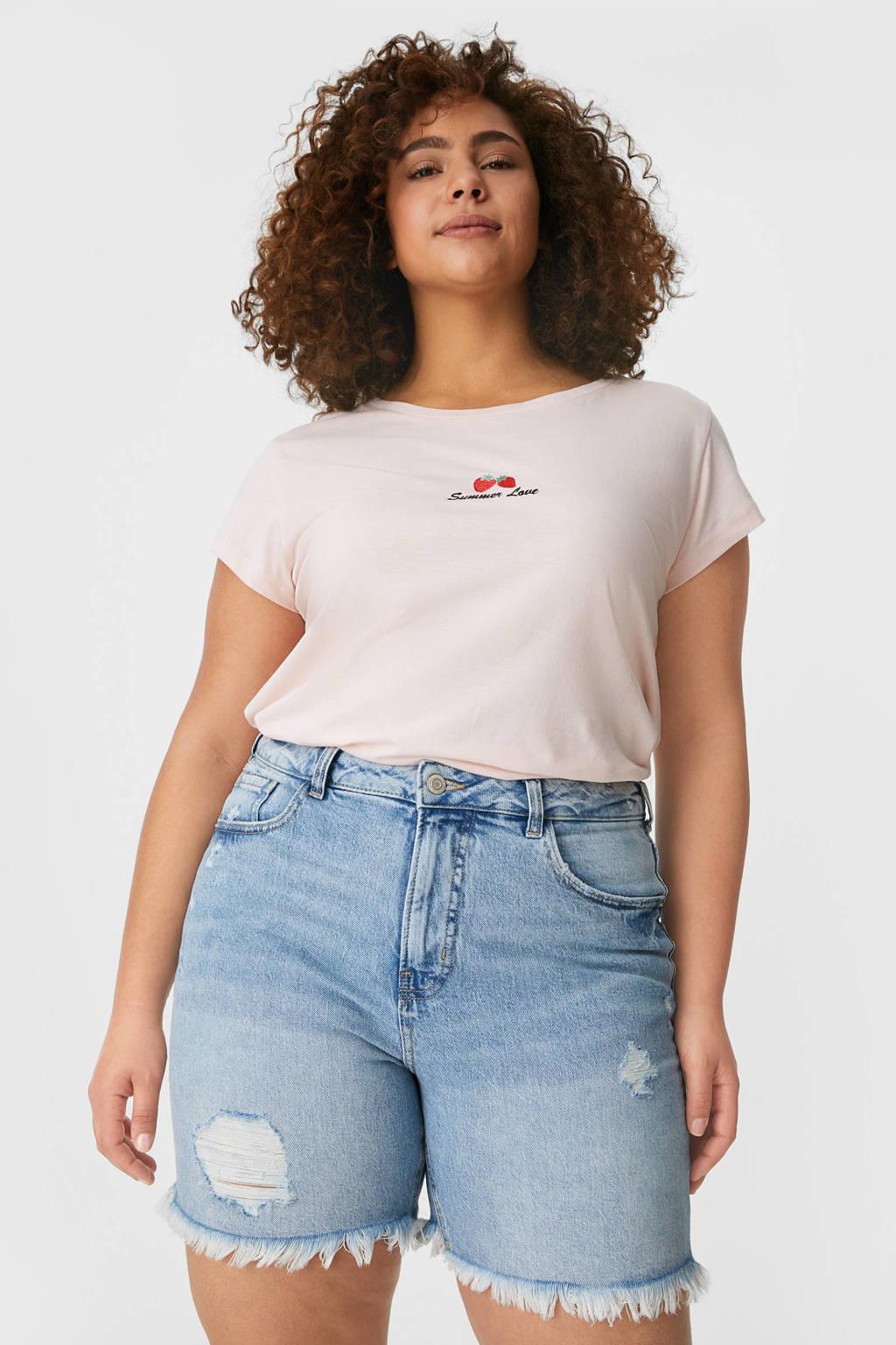 C&A Clockhouse jeans short light denim, Light denim
