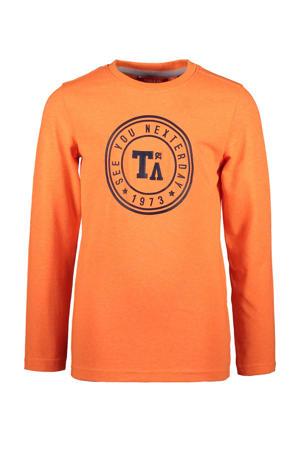 longsleeve met logo oranje