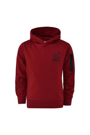 sweater Joop met tekst donkerrood