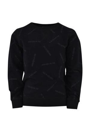 sweater Kees met tekst zwart