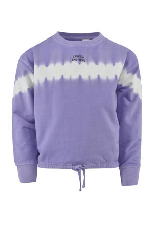 tie-dye sweater Yvon lila/wit/zwart