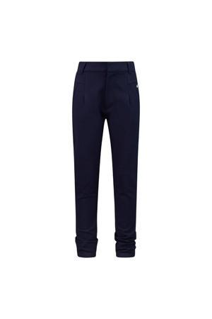 high waist boyfriend broek Fifi donkerblauw