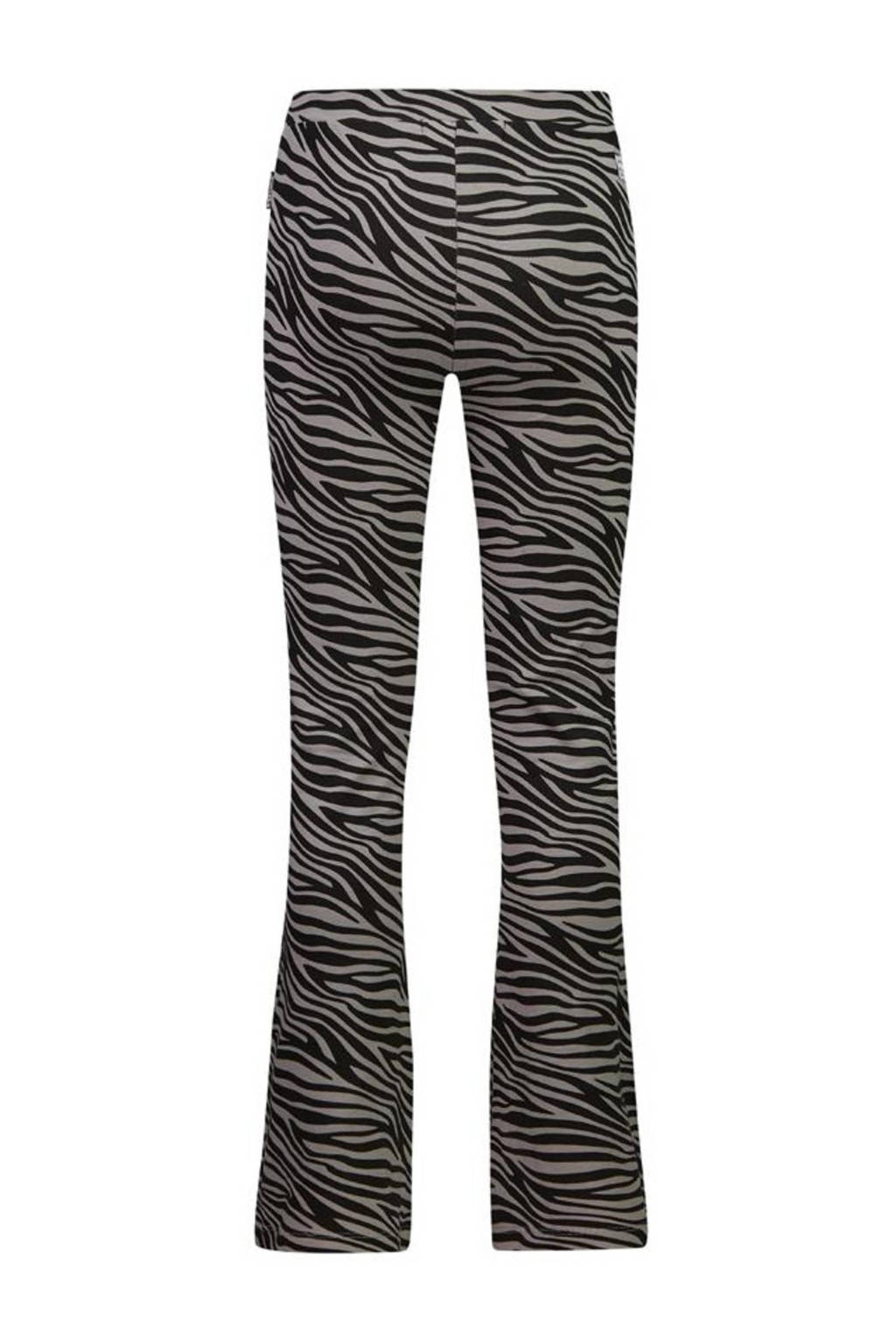 Retour Denim flared broek Bouskoura met zebraprint zwart, Zwart
