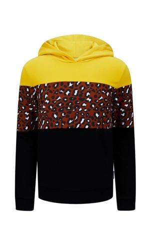 hoodie Sidi maisgeel/zwart/brique