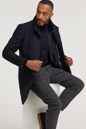 jas Harvey met wol donkerblauw