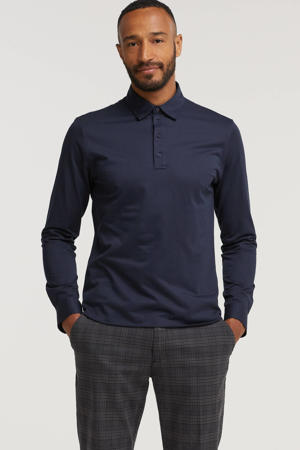 slim fit polo MAoliver donkerblauw