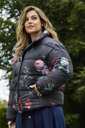 limited edition gewatteerde jas met bloemenprint multi