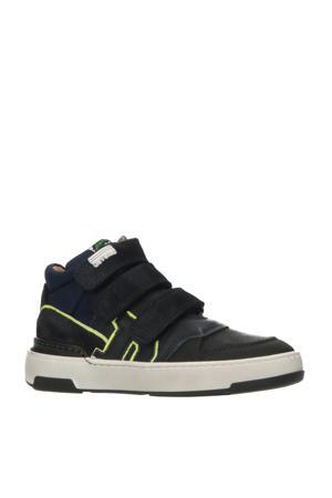 41951  halfhoge suède sneakers donkerblauw