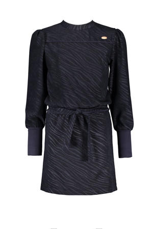 jurk Mio met zebraprint donkerblauw