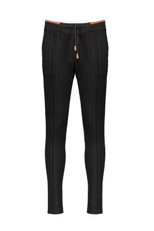 gestreepte skinny broek Seclerb zwart
