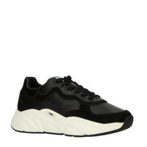Rock L59 leren chunky sneakers zwart