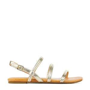 Mytis 1119760  leren sandalen goud