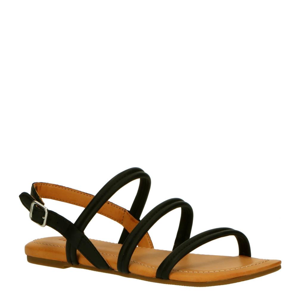 UGG Mytis 1119760 leren sandalen zwart, Zwart