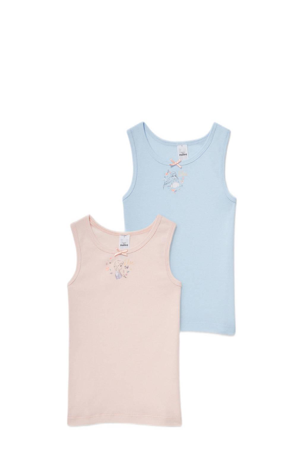 C&A Frozen hemd - set van 2 lichtroze/lichtblauw, Lichtblauw/lichtroze