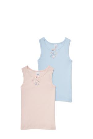 hemd - set van 2 lichtroze/lichtblauw
