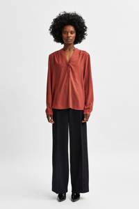 SELECTED FEMME blouse SLFMIVIA terra, Terra