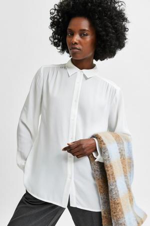 blouse SLFSIGNA van gerecycled polyester ecru