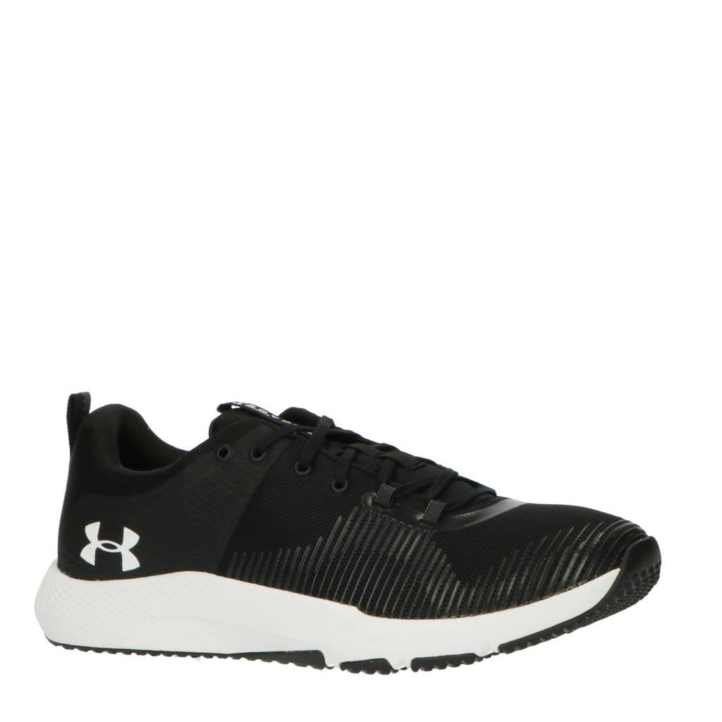 Under Armour  Charged Engage sportschoenen zwart/wit, Zwart/wit