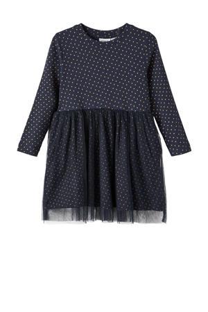 jurk NMFKABEXA met biologisch katoen donkerblauw