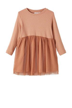 jurk NMFKABEXA met biologisch katoen bruin