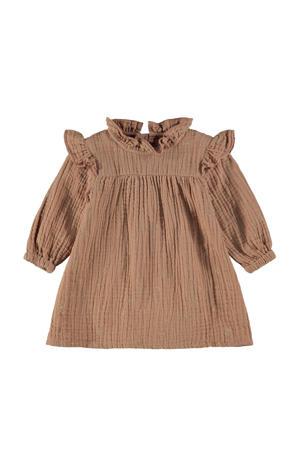 baby jurk NBFRISOLLE van biologisch katoen bruin