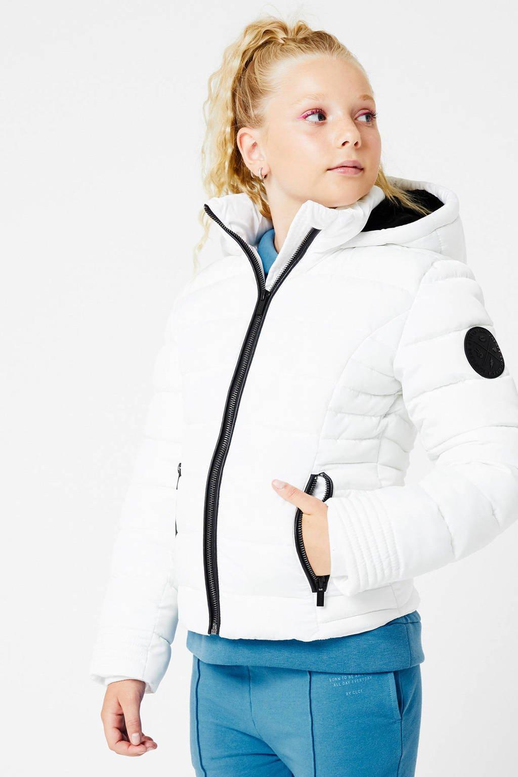 CoolCat Junior gewatteerde winterjas Joan wit, Wit