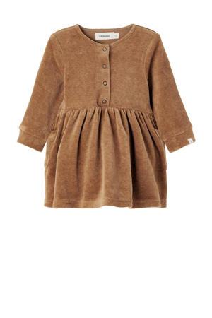 baby velours jurk NBFREBEL bruin
