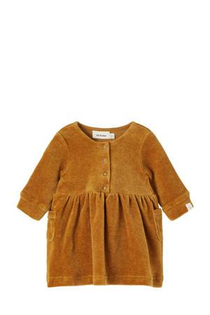 baby velours jurk NBFREBEL camel
