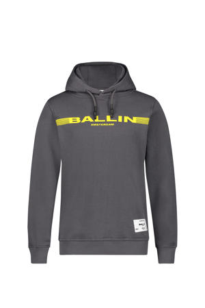 hoodie met logo antraciet