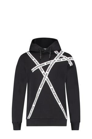 sweater met logo zwart/wit