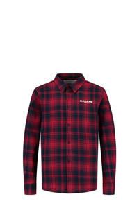 Ballin geruit flanellen overhemd rood/zwart, Rood/zwart