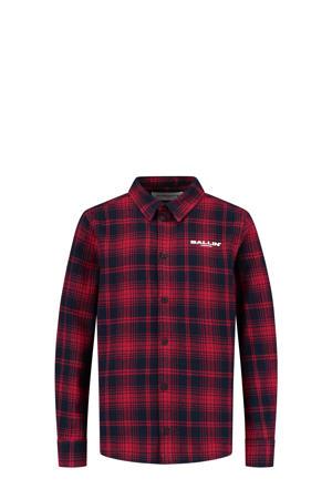 geruit flanellen overhemd rood/zwart