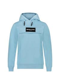 Ballin hoodie met logo lichtblauw, Lichtblauw