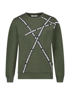 sweater met logo donkergroen