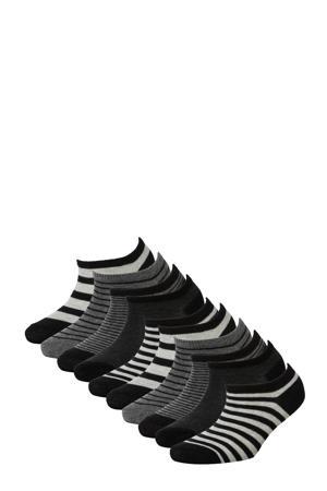 sneakersokken - set van 10 zwart