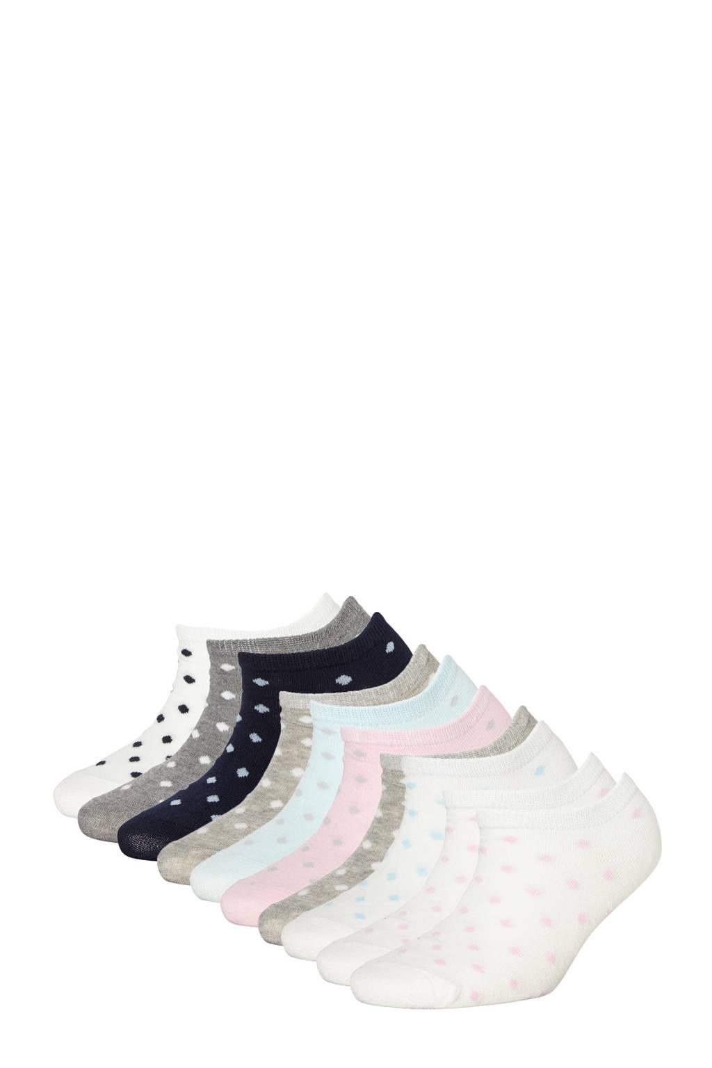 Apollo sneakersokken - set van 10 multi, Multi