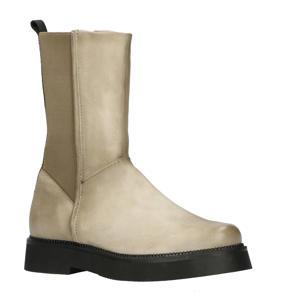 Triple 565239 hoge leren chelsea boots taupe