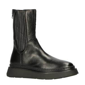 Base P23202 hoge leren chelsea boots zwart