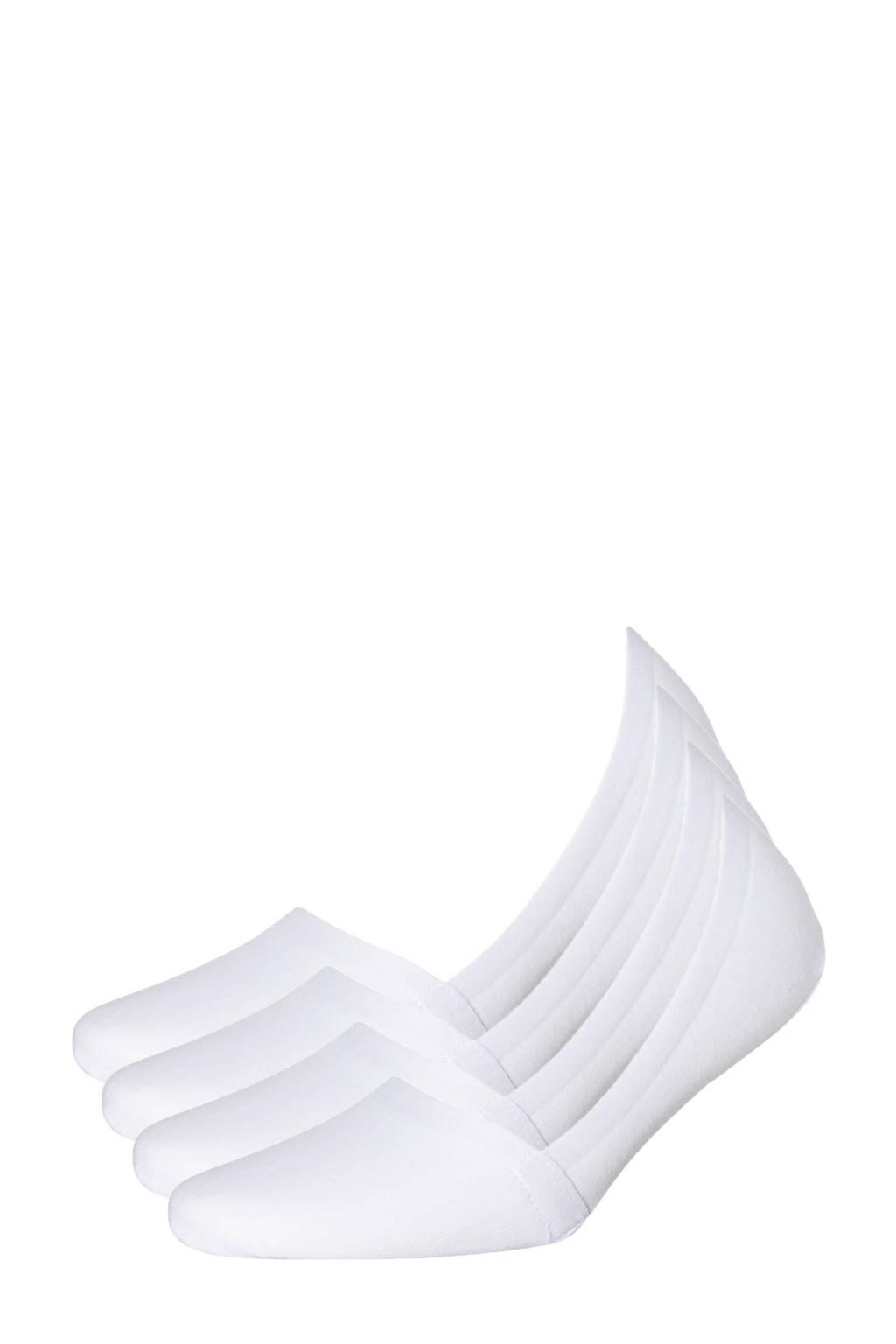 Sarlini no-show sneakersokken - set van 4 wit, Wit