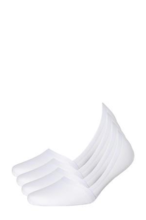 no-show sneakersokken - set van 4 wit