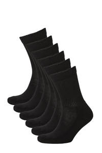 Apollo   sportsokken - set van 6 zwart, Zwart