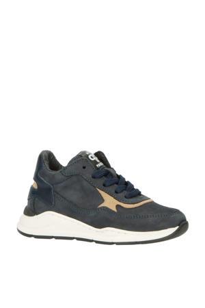 P1400  nubuck sneakers blauw