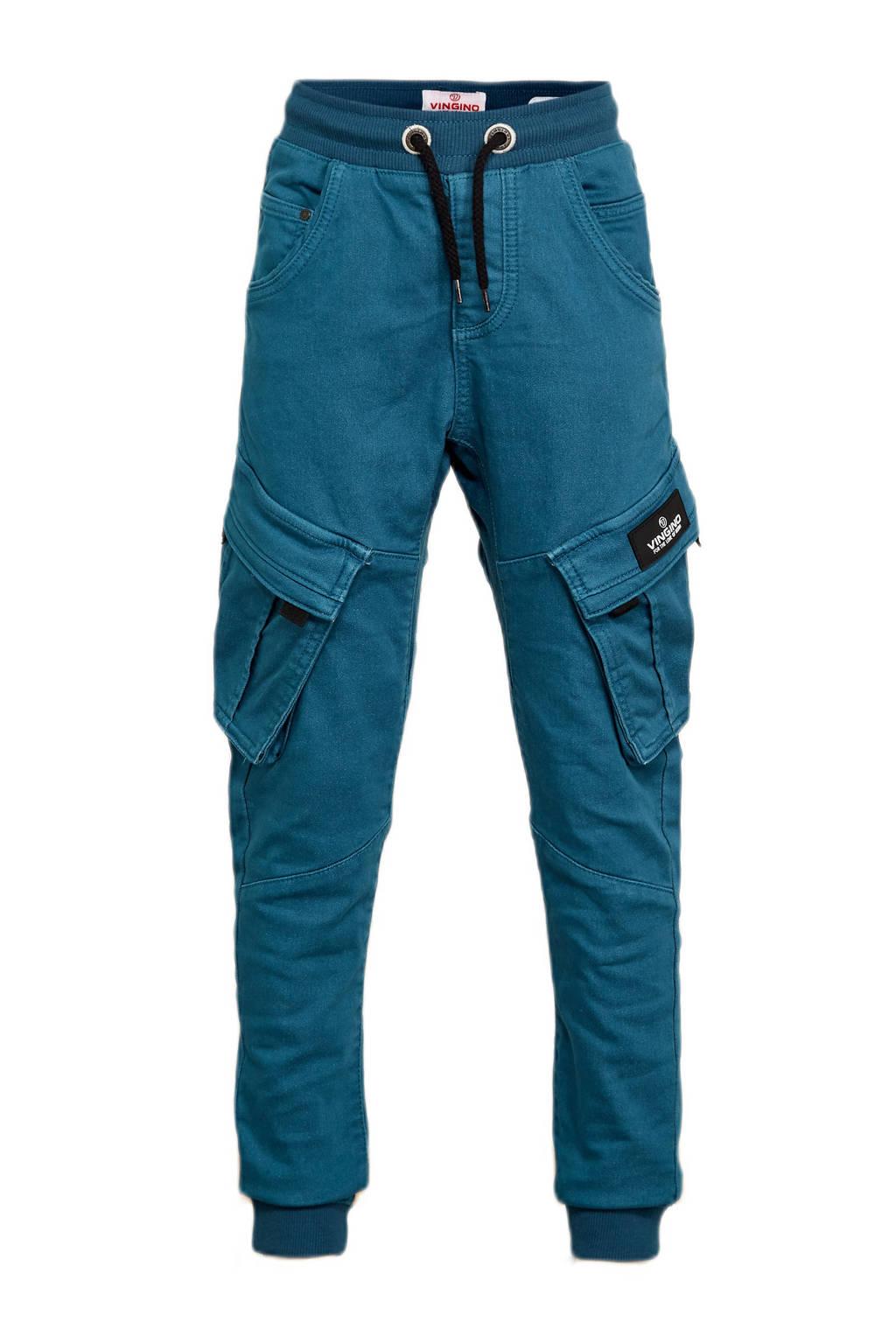 Vingino loose fit broek Carlos blauw, Blauw