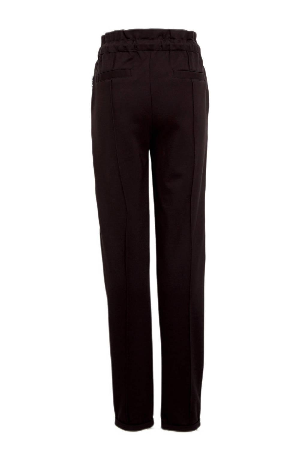 Vingino regular fit broek Siresse met zijstreep zwart, Zwart