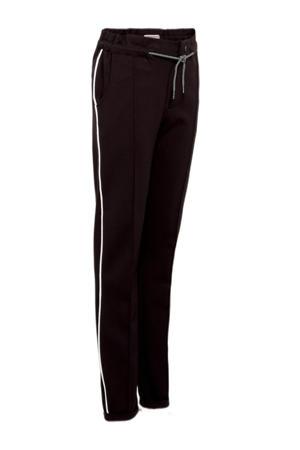 regular fit broek Siresse met zijstreep zwart