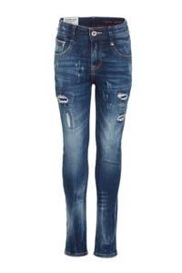 Vingino skinny jeans Anzio met slijtage mid blue wash, Mid Blue Wash