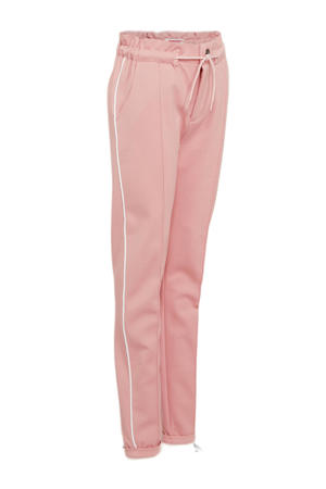 regular fit broek Siresse met zijstreep roze