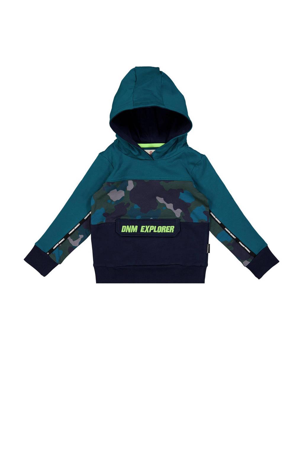 Vingino hoodie Nuri blauwgroen/donkerblauw, Blauwgroen/donkerblauw