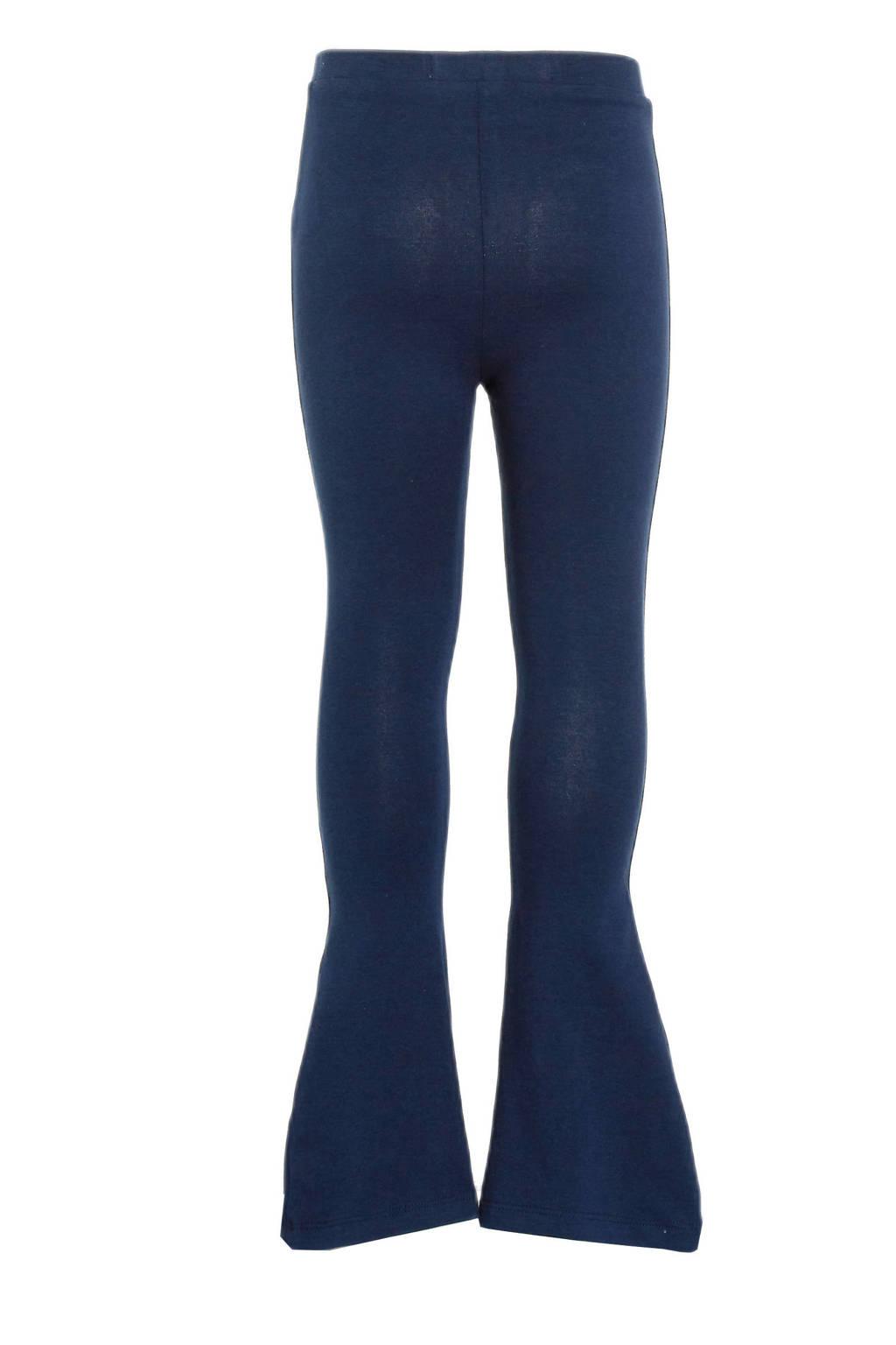 Vingino flared broek Sanja donkerblauw, Donkerblauw